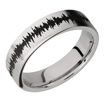 Titanium Soundwave Ring