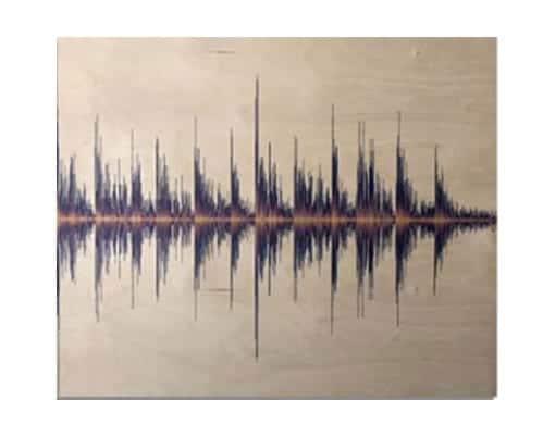 Soundwave art maple
